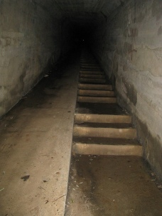 The body chute. This tunnel was originally built to move supplies from the bottom of the hill to Waverly Hills, but when the TB epidemic reached its height and death counts were high, it was used to move bodies out of the sanatorium without the surviving patients seeing how many people were dying.