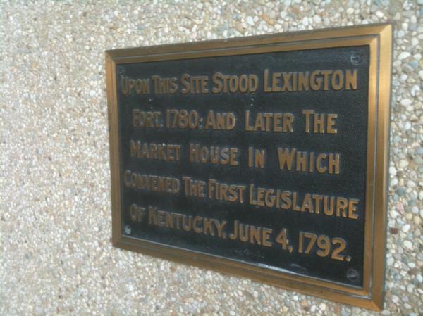 original settlement at Lexington, Kentucky