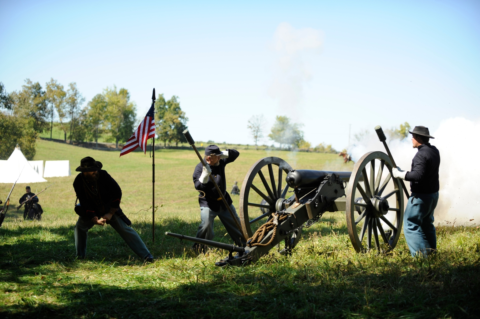 The Battle of Perryville Reenactment in Perryville, Kentucky Civil War