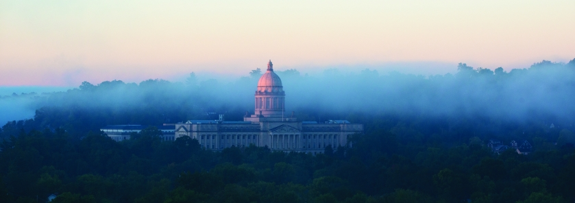 the state capitol building in Frankfort, the Kentucky state capital