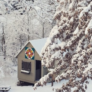 Kentucky Winter Barn Quilt