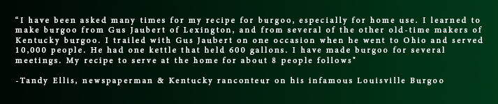 Tandy Ellis Burgoo Quote